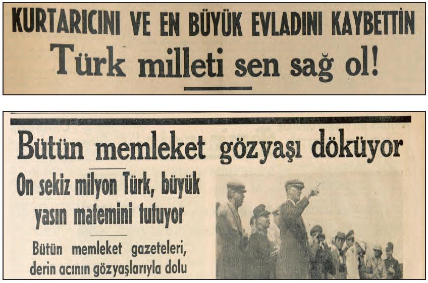 TÜRK BASININDA ATATÜRK'ÜN ÖLÜMÜ