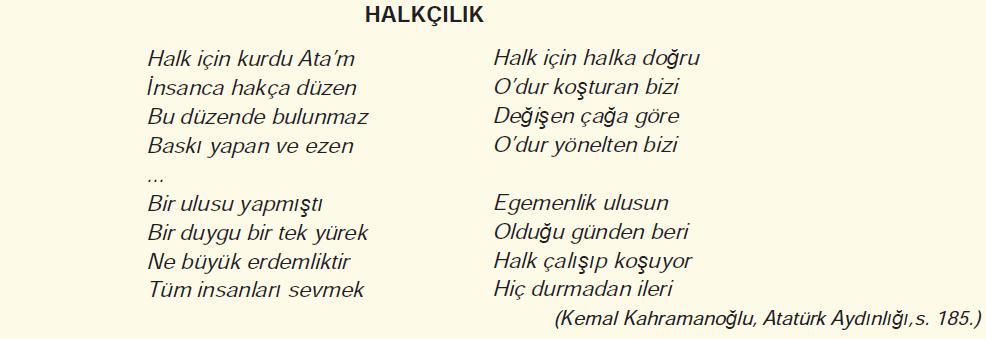 Halkçılık Şiiri - Kemal Kahramanoğlu,