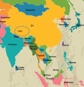 Budizm haritası