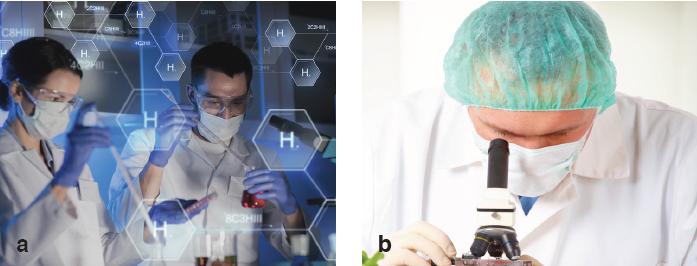 Görsel 1.28 Biyoteknolojik çalışma yapan bilim insanları