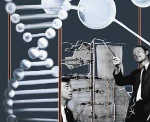 Görsel 1.6: Watson ve Crick'in DNA çift sarmal modeli