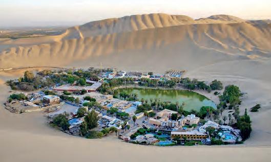 Görsel 2.15 Zorlu doğal koşulları nedeniyle çöl alanları çok seyrek nüfuslanır (Huacachina-Peru).