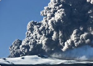 Görsel 4.12 Eyjafjallajökull (Eyyafyalayokull) Volkanı - İzlanda