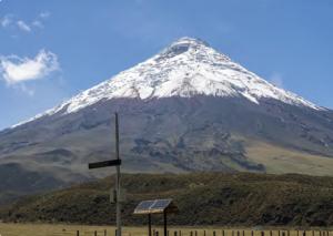 Görsel 4.15 Cotopaxi Volkanı ve erken uyarı sistemi (Ekvador)