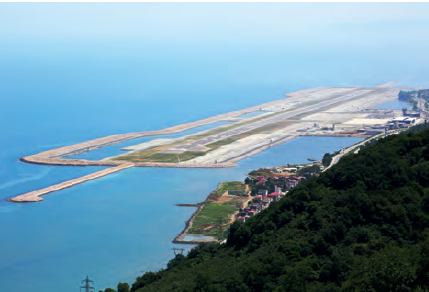 Görsel 4.2 Ordu-Giresun Havalimanı deniz doldurularak yapılmıştır.