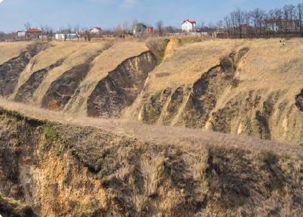 Görsel 4.20 Dinipro'da bitkilerin tahribi sonucu meydana gelen hızlandırılmış erozyon (Ukrayna)