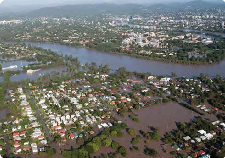 Görsel 4.25 12 Ocak 2011'de Brisbane'de yaşanan taşkın (Avustralya)