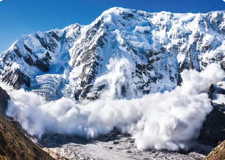 Görsel 4.27 Shkhara (Şakhara) Dağı'nda (Gürcistan) yaşanan bir çığ felaketi