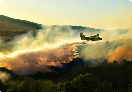 Görsel 4.29 İtalya'da meydana gelen bir orman yangınını söndürme çalışması (6 Temmuz 2017)