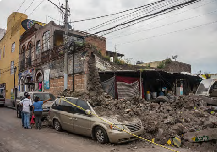 Görsel 4.8 Mexico City depremi (20 Eylül 2017 - Meksika)