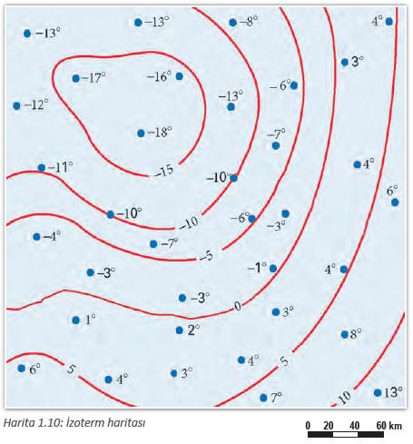Harita 1.10: İzoterm haritası