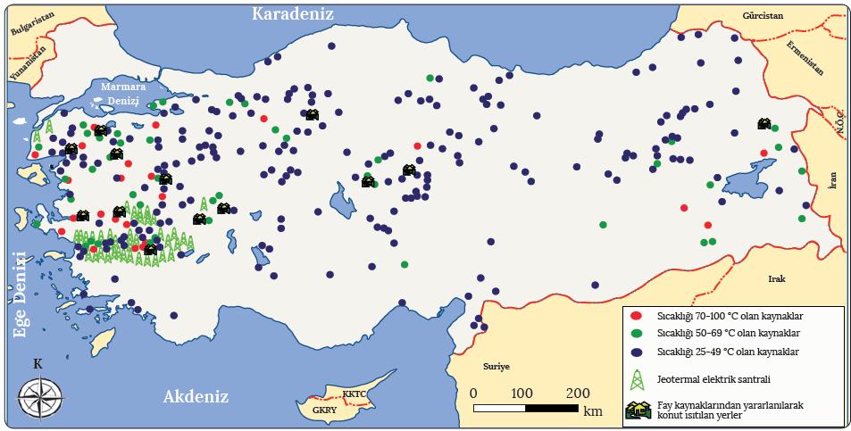 Harita 1.16 Türkiye'de yer alan fay kaynakları (MTA, 2017)