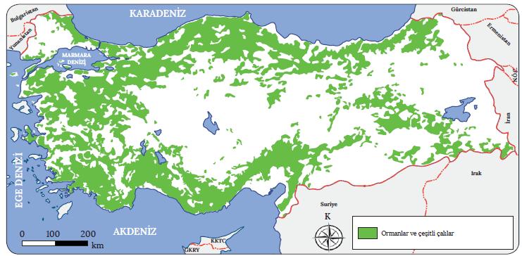 Harita 1.21 Türkiye orman haritası (OGM)