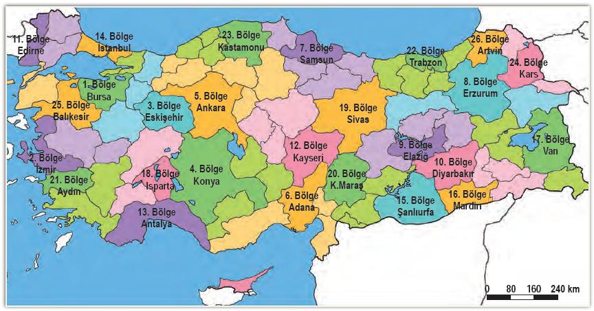 Harita 3.14 Orman Genel Müdürlüğü Bölgeleri