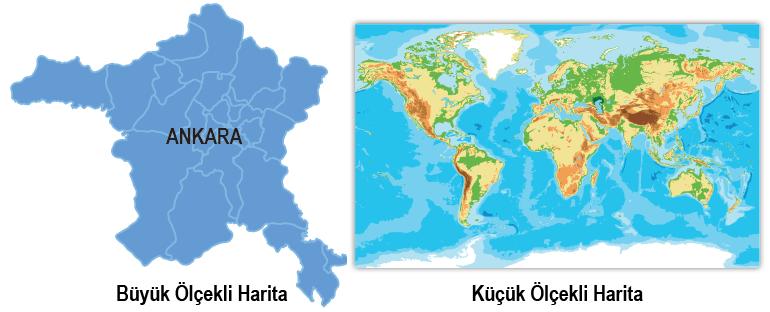 büyük ve küçük ölçekli haritalar