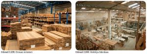 Görsel 2.129 Orman ürünleri - Görsel 2.130 Mobilya fabrikası