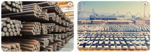 Görsel 3.30 a) ve b) Japonya dünyanın en fazla demir ithal eden ve otomobil ihraç eden ülkelerinden biridir.