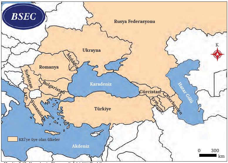 Harita 3.13 Karadeniz Ekonomik İşbirliği Teşkilatı